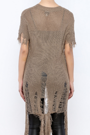 Hot & Delicious Kanye Who Sweater - Back cropped