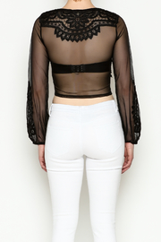 Hot & Delicious Lace Cropped Blouse - Back cropped