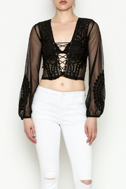 Hot & Delicious Lace Cropped Blouse - Product Mini Image