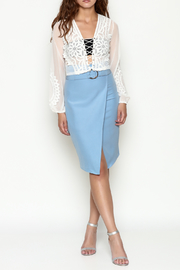 Hot & Delicious Lace Cropped Blouse - Side cropped