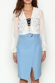 Hot & Delicious Lace Cropped Blouse - Front full body