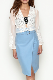Hot & Delicious Lace Cropped Blouse - Front cropped