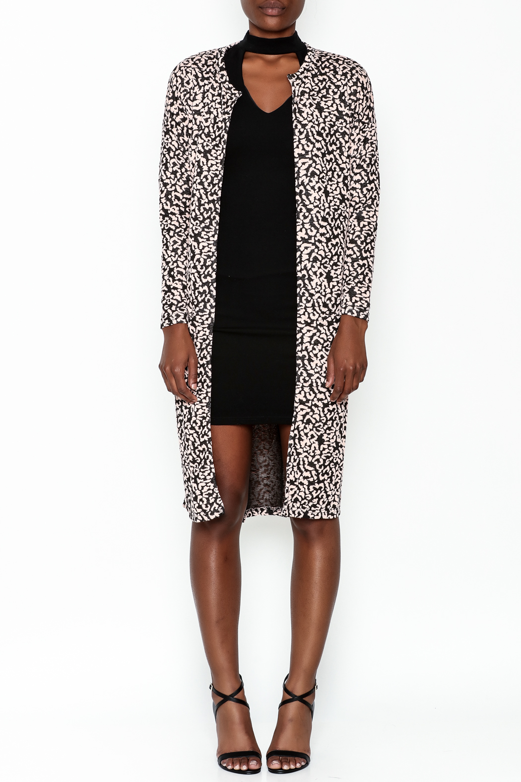 Hot & Delicious Leopard Print Jacket - Front Full Image