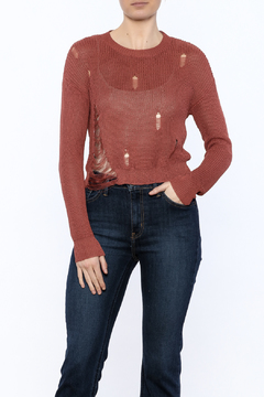 Shoptiques Product: Long Sleeve Distressed Sweater
