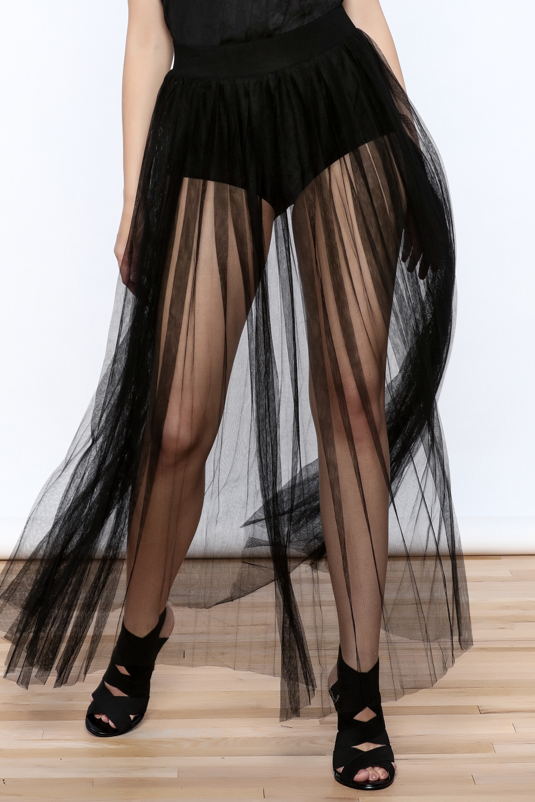 Hot & Delicious Mesh Maxi Skirt - Front Cropped Image