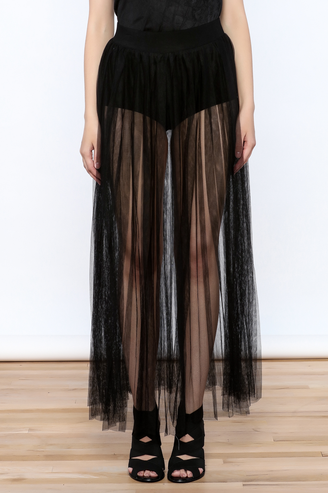 Hot & Delicious Mesh Maxi Skirt - Side Cropped Image