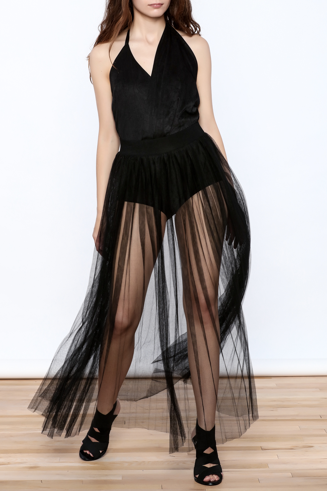 Hot & Delicious Mesh Maxi Skirt - Front Full Image