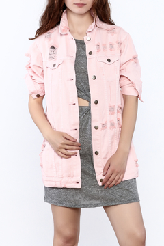 Hot & Delicious Pink Denim Jacket - Product List Image