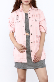 Hot & Delicious Pink Denim Jacket - Product Mini Image