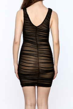 Hot & Delicious Black Sleeveless Ruched Dress - Alternate List Image