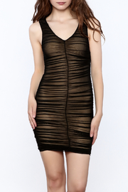 Hot & Delicious Black Sleeveless Ruched Dress - Product Mini Image