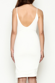 Hot & Delicious Tie Up White Dress - Back cropped