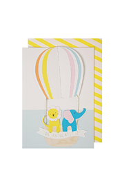 Meri Meri  Hot Air Balloon Congratulations Card - Product Mini Image