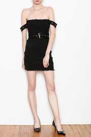 hot and delicious Belted Ribbed Dress - Front full body