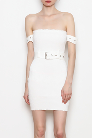 hot and delicious Belted Ribbed Dress - Front cropped