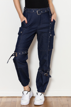 Shoptiques Product: Denim Cargo Pants