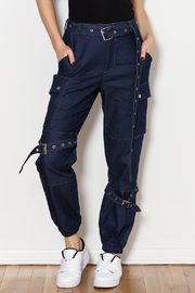 hot and delicious Denim Cargo Pants - Product Mini Image