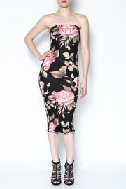 hot and delicious Floral Tube Dress - Product Mini Image