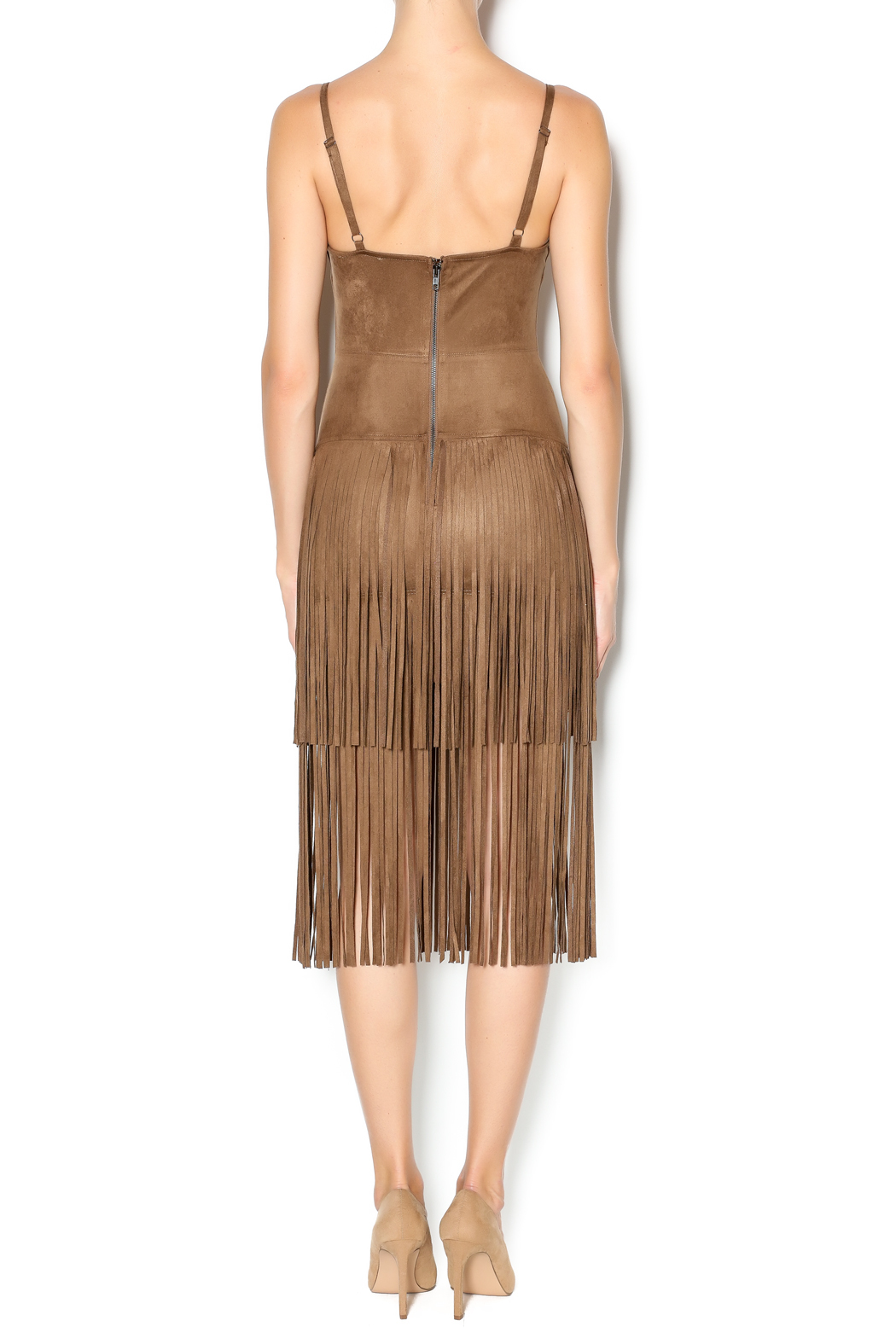 Hot & Delicious Fringe Dress - Back Cropped Image