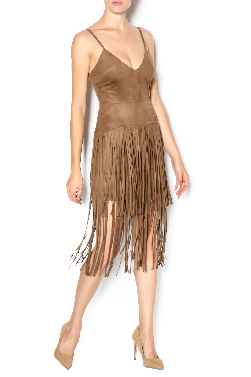 Hot & Delicious Fringe Dress - Front Full Image