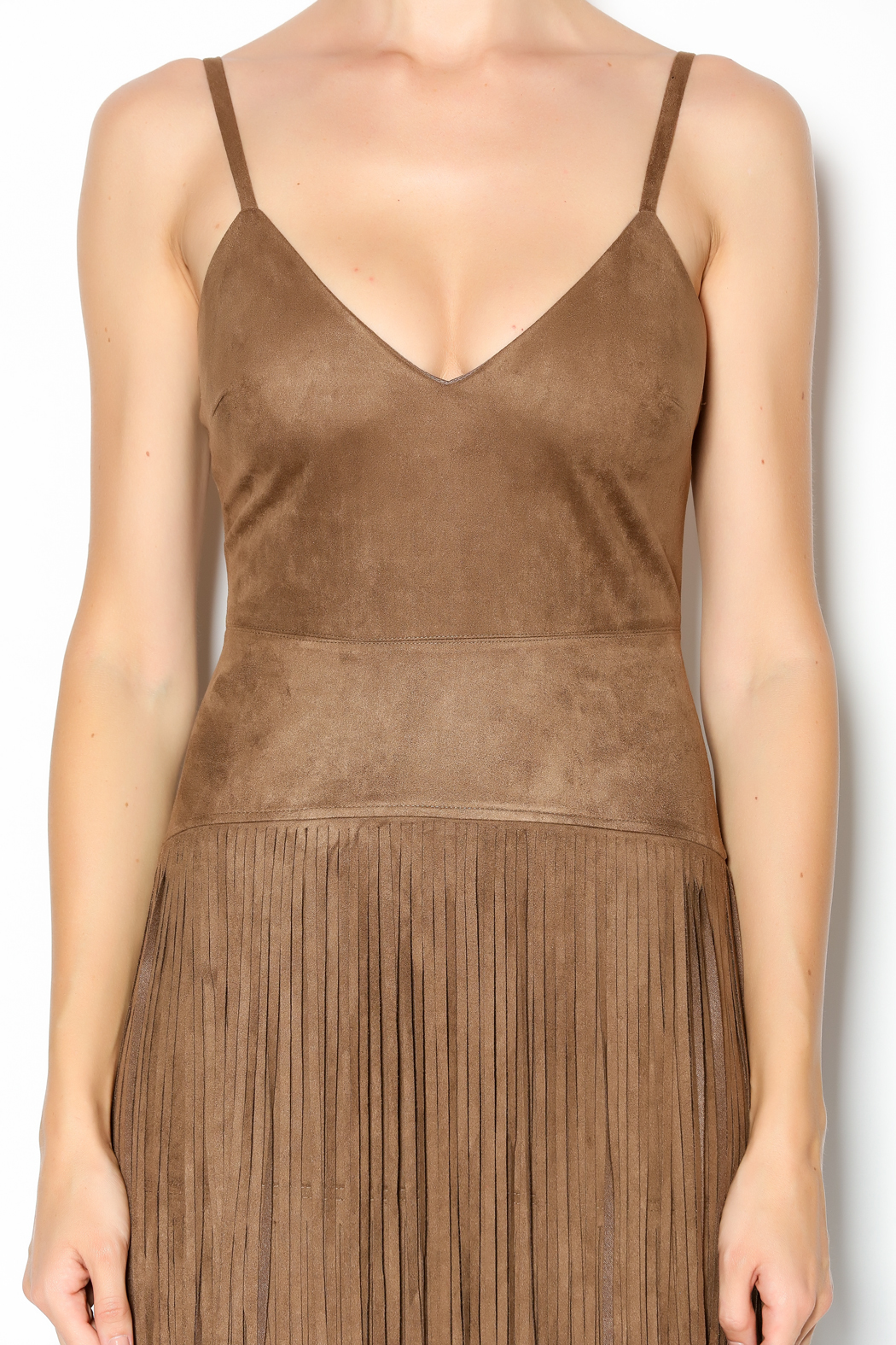 Hot & Delicious Fringe Dress - Side Cropped Image
