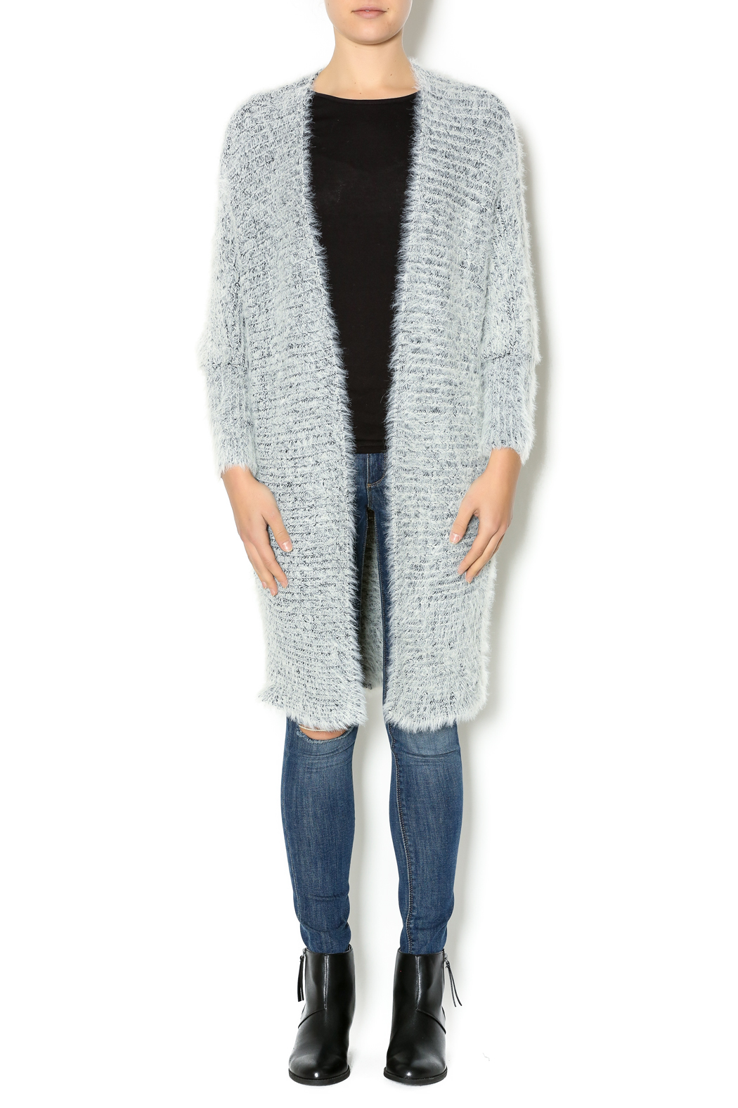 Hot & Delicious Oversize Fuzzy Cardigan - Front Full Image