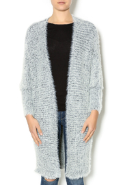 Hot & Delicious Oversize Fuzzy Cardigan - Front cropped