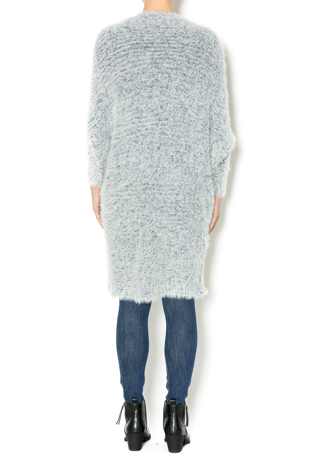 Hot & Delicious Oversize Fuzzy Cardigan - Side Cropped Image