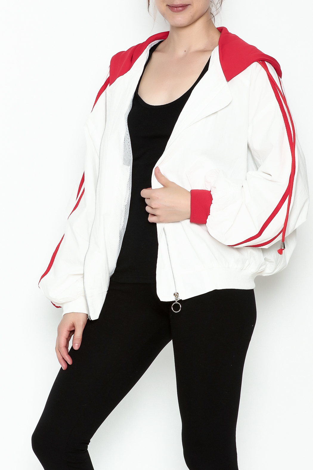 hot and delicious Sporty Hooded Jacket - Main Image
