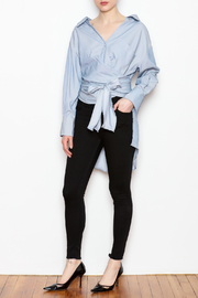 hot and delicious Tie Front Blouse - Product Mini Image