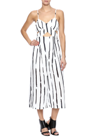 Hot & Delicious Stripe Cutout Jumpsuit - Front full body
