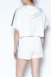 hot and delicious Side Stripe Short Set - Back cropped