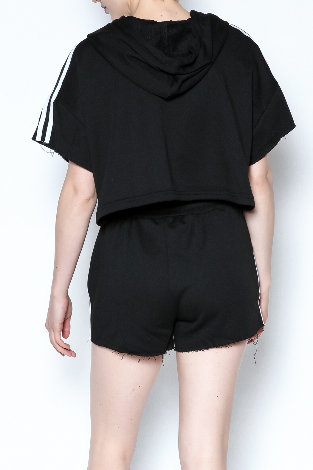 hot and delicious Side Stripe Short Set - Back Cropped Image
