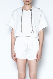 hot and delicious Side Stripe Short Set - Front full body
