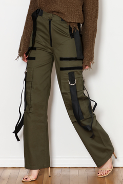 Shoptiques Product: Suede Strap Pants
