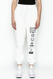 hot and delicious White Printed Pants - Front full body