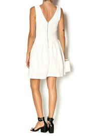 hot and delicous white ribbed dress from oklahomablack