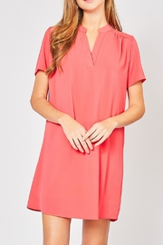 12pm by Mon Ami Hot Coral Dress - Front cropped