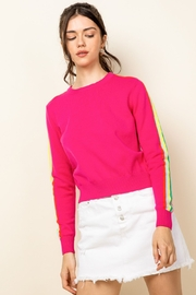 Thml Hot Pink Crewneck Sweater - Front full body
