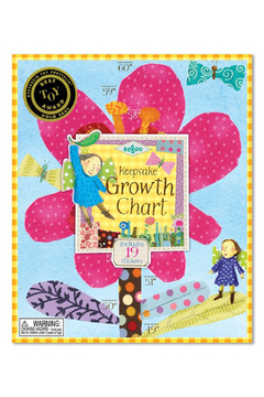 Eeboo Hot Pink Flower Growth Chart - Product List Image