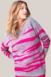 Tribal  Hot Pink/Grey Sweater - Product Mini Image