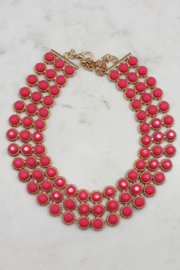 Boe Hot Pink Statement Necklace - Product Mini Image