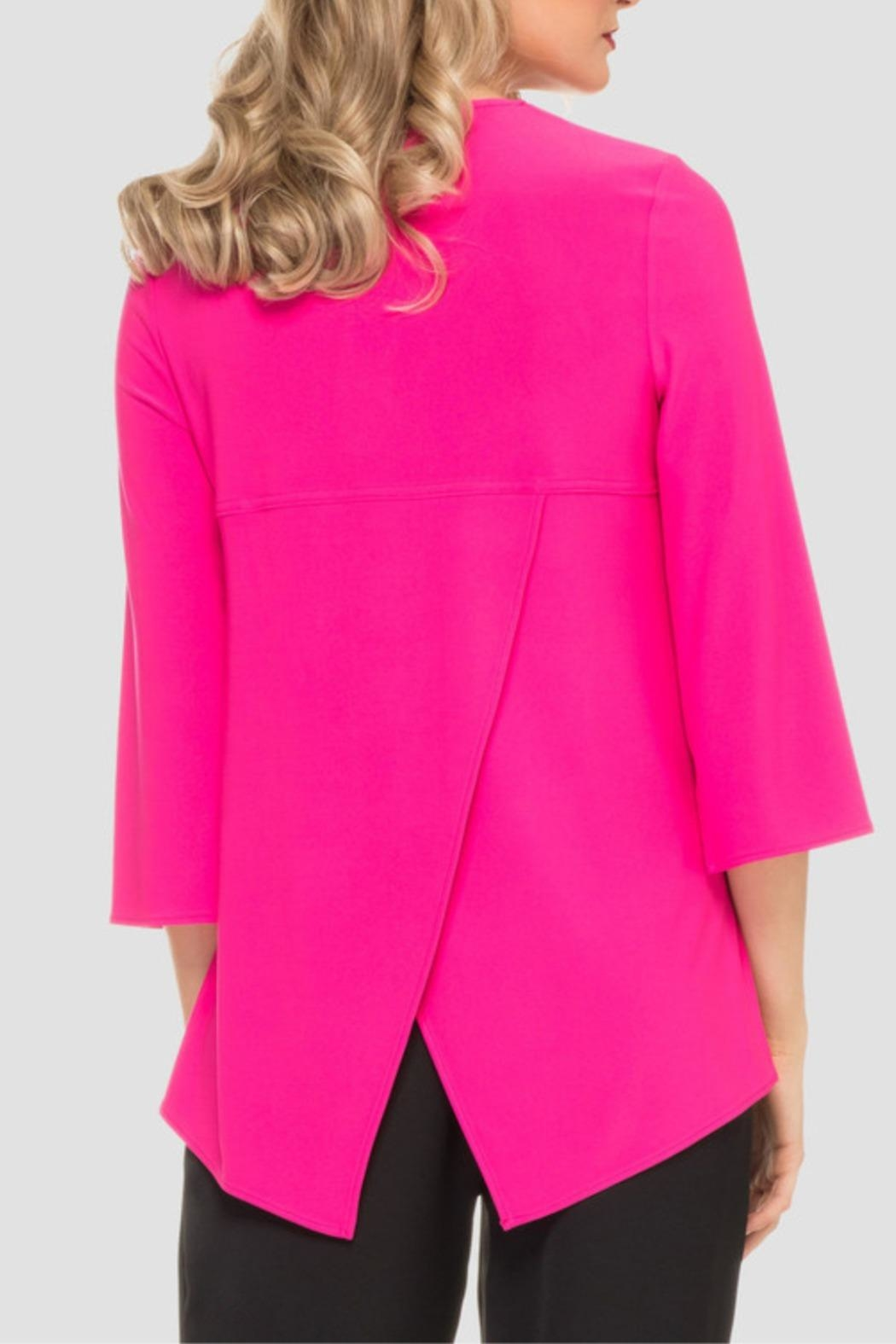 Joseph Ribkoff Hot Pink Top - Side Cropped Image