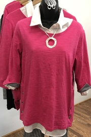 Tribal  Hot Pink Top with Snaps - Product Mini Image