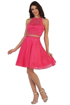 May Queen  Hot Pink Two Piece Short Formal Dress - Product List Image