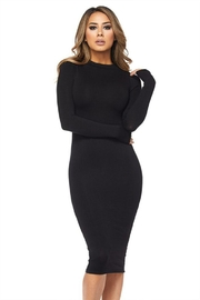 Hot & Delicious Black Bodycon Dress - Product Mini Image