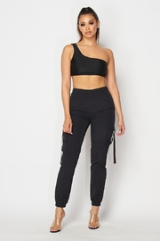 Hot & Delicious Black Jogger Set - Front cropped
