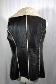 Hot & Delicious Black Leather Vest - Front full body