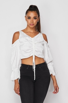 Hot & Delicious Cold Shoulder Smocked Top - Product List Image
