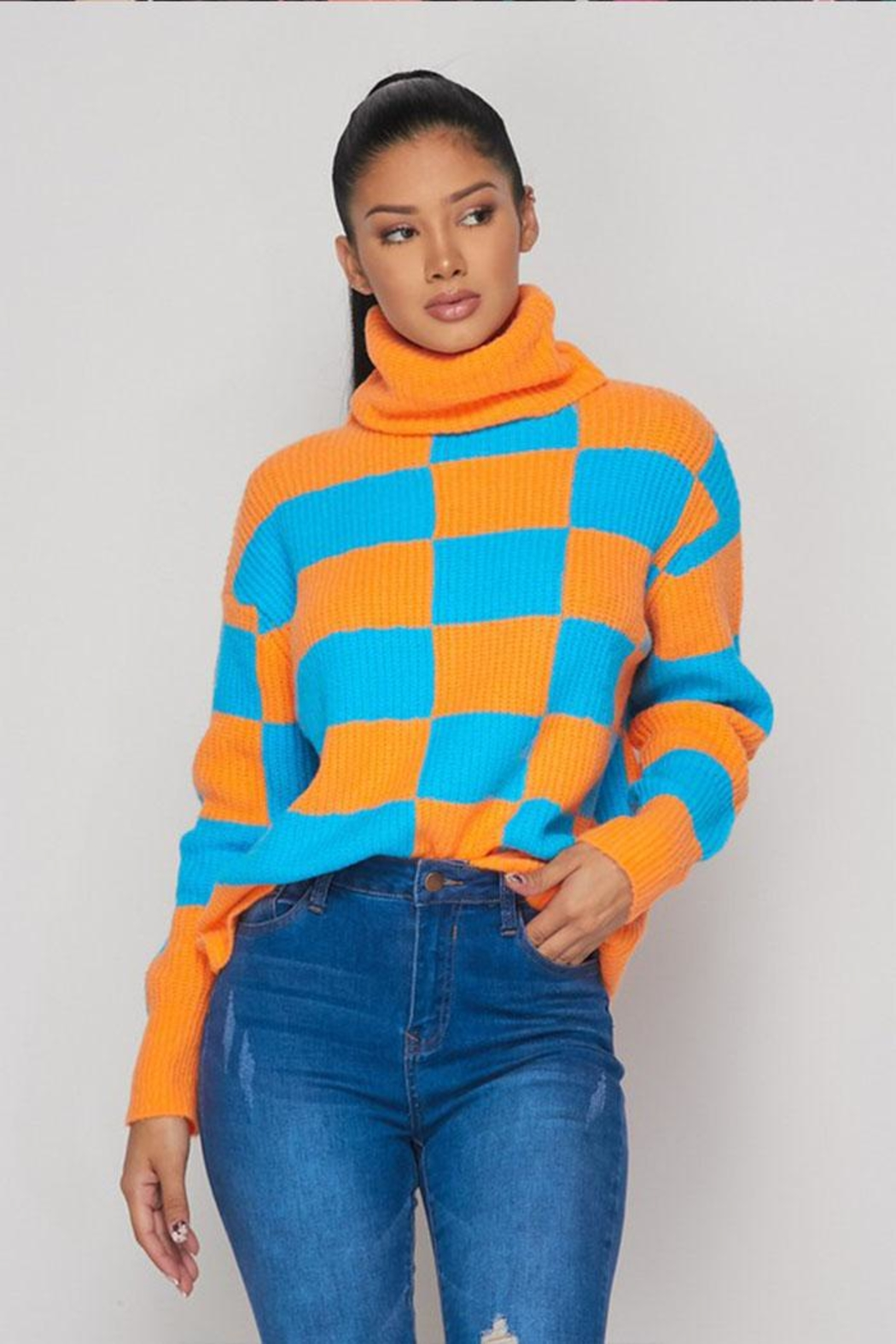 Hot & Delicious Color Block Sweater - Main Image